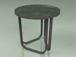 Side table 008 (Metal Smoke, Glazed Gres Forest)