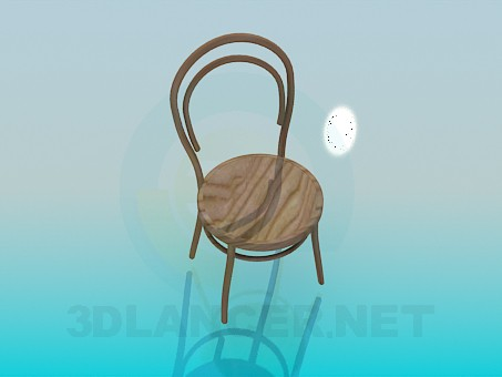 3d model Chair of natural material - preview