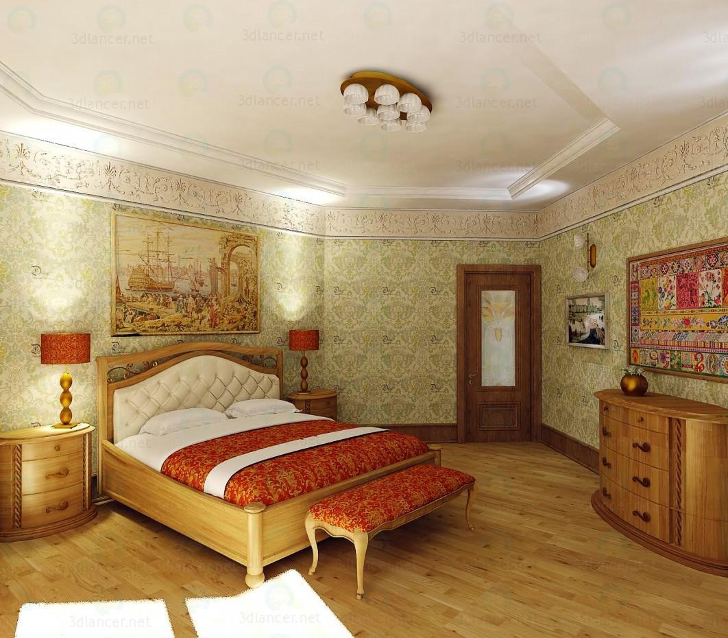 modelo 3D Dormitorio CamelGroup SIENA - escuchar