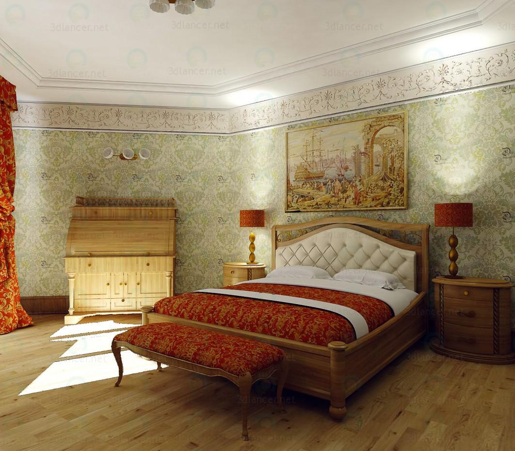 3d modella Camera da letto Camelgroup siena in stile Impero ID 10995