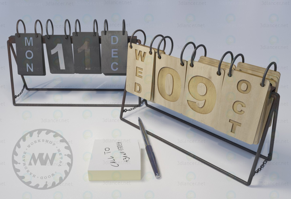 3d modeling Calendars model free download