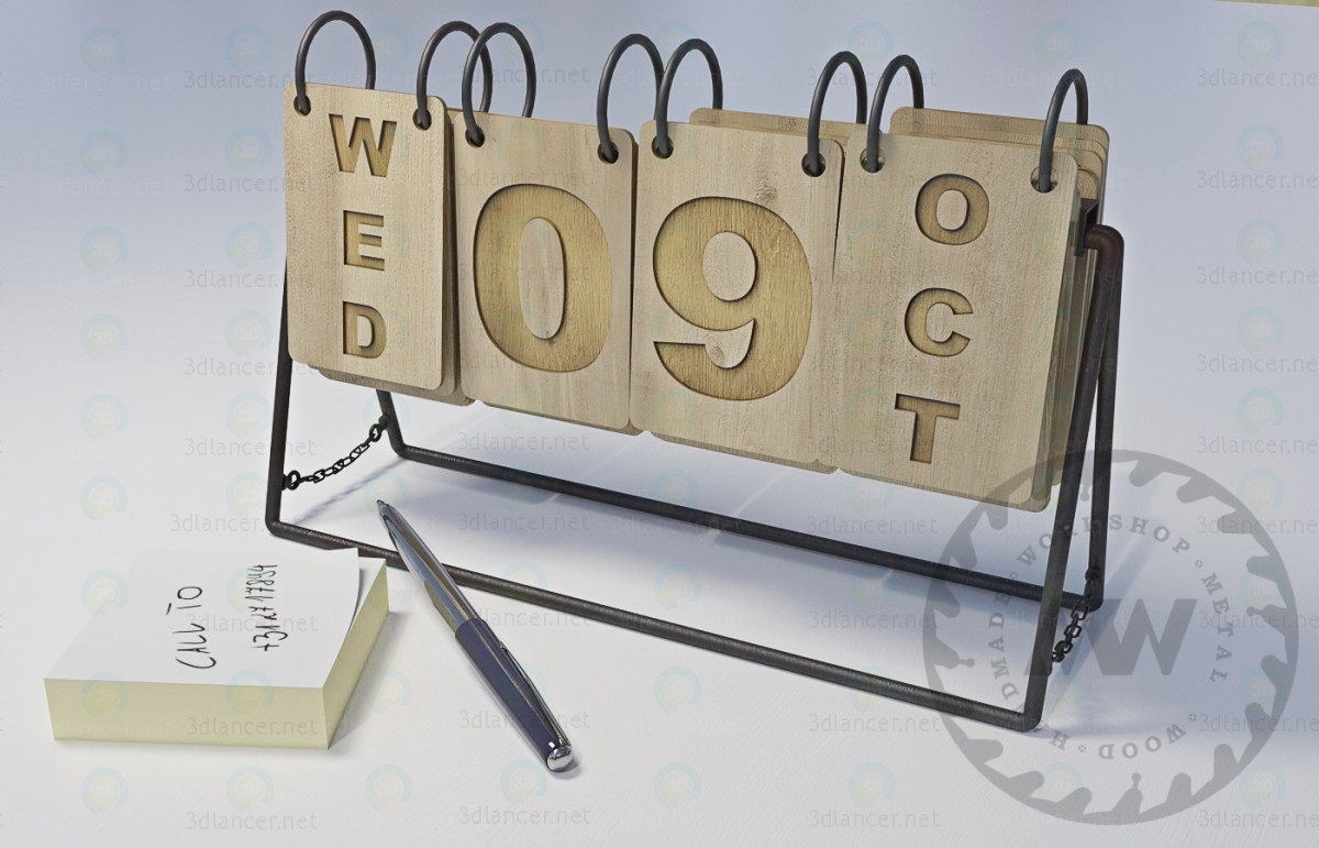 3d модель Календар перекидний – превью