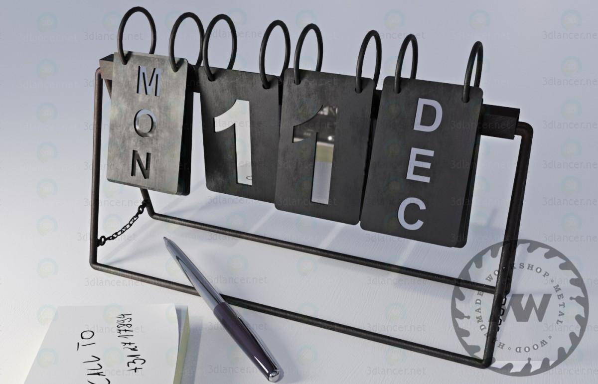 modelo 3D Calendarios - escuchar