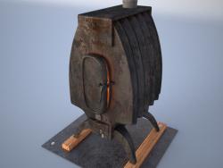 """Soba, ısıtıcı (""""burzhuyki"""" gibi), çelik, demir"""