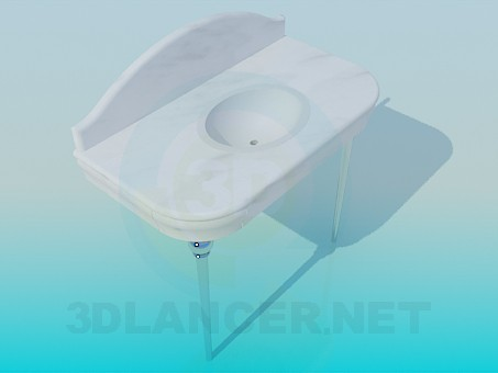 3d modeling Wash basin with top model free download