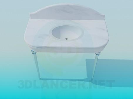 modelo 3D Lavabo con la tapa - escuchar