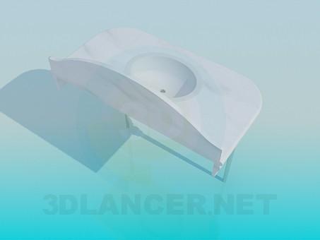3d модель Умывальник со столешницей – превью