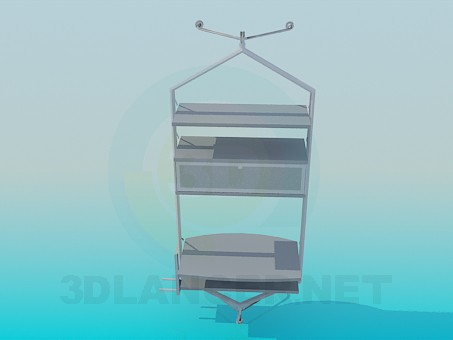 3d model Shelf under TV - preview