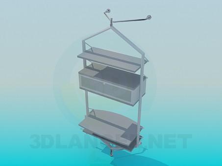 modelo 3D Estante en TV - escuchar