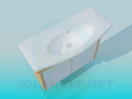 descarga gratuita de 3D modelado modelo Lavabo oval