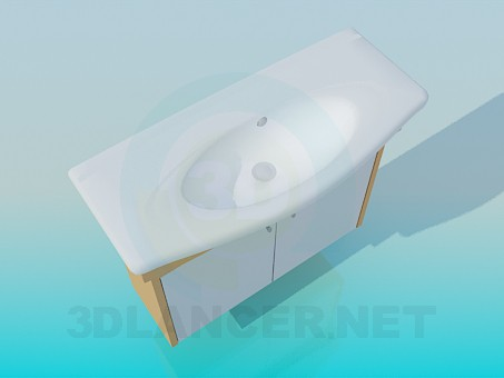 3d modeling Oval sink model free download
