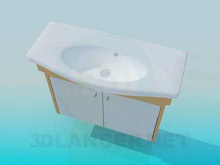3d model Oval sink - preview