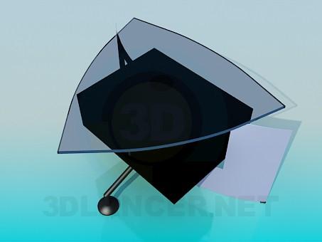 3d модель Трикутний журнальний столик – превью