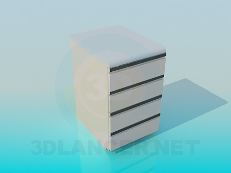 3d modeling Bedside table with drawers model free download