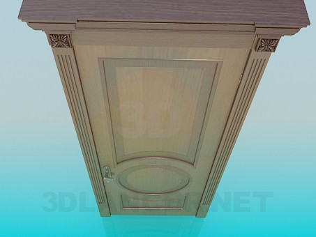 3d model Door wood - preview