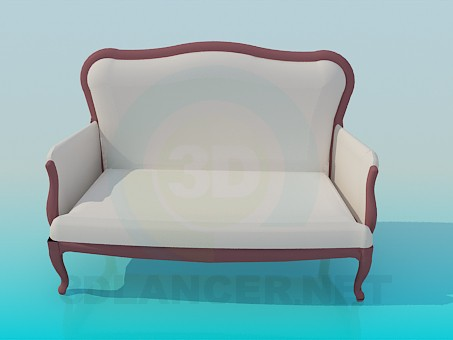 descarga gratuita de 3D modelado modelo Sofá