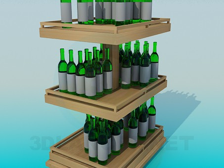 3d modeling Wine shelf model free download