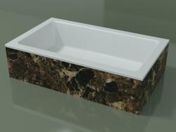 Vasque à poser (01R131101, Emperador M06, L 60, P 36, H 16 cm)