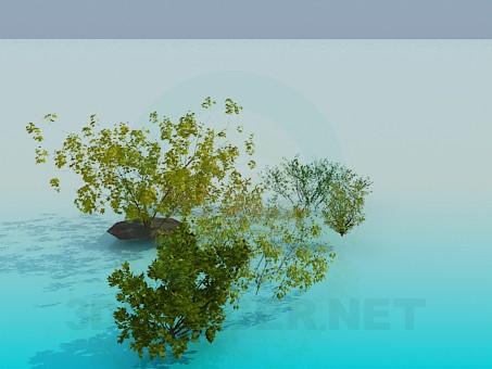 modelo 3D Arbustos - escuchar