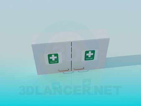 3d model Wall first-aid kit - preview