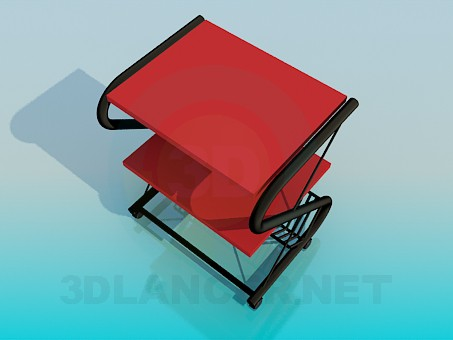 3d model Stand for newspapers - preview