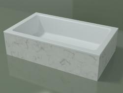 Lavatório de bancada (01R131101, Carrara M01, L 60, P 36, H 16 cm)