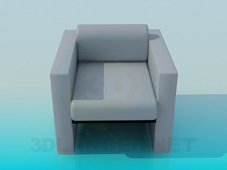 3d model Armchair- minimalism style - preview