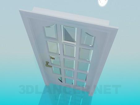 3d модель Дверь со стеклом – превью
