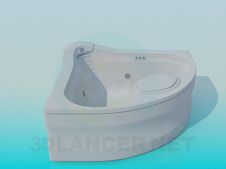 3d model Bath in the corner - preview