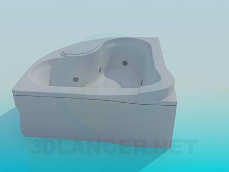 modelo 3D Baño en la esquina - escuchar