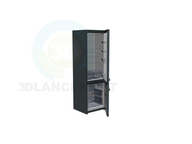 descarga gratuita de 3D modelado modelo refrigerador negro