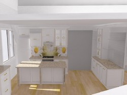 Daisy kitchen with island