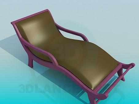 descarga gratuita de 3D modelado modelo caballete-cama
