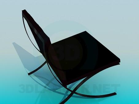 3d модель Кресло без подлокотников – превью