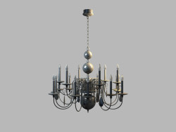 Chandelier Regina MD 8048-18A black