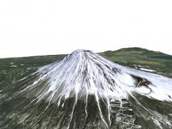 Modello 3D del vulcano Fuji / modello 3D del vulcano Fuji