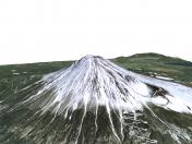 Fuji volcano 3D model / 3D model of Fuji volcano