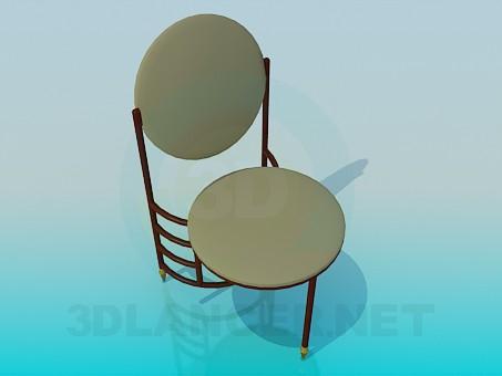 descarga gratuita de 3D modelado modelo Silla de tres patas