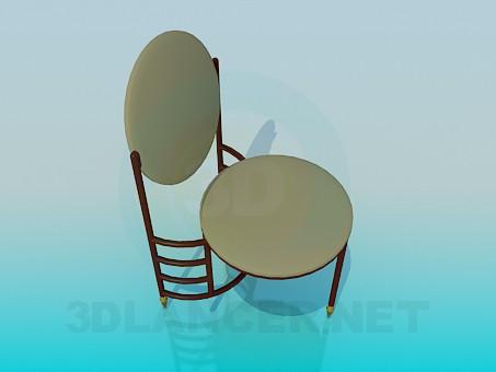 3d модель Трехножний стілець – превью
